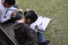20120127-雅雅畫畫中-1