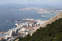 034. View of Gibraltar from Top of the Rock. March 2012