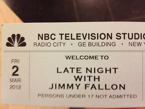 Late Night With Jimmy Fallon Ticket
