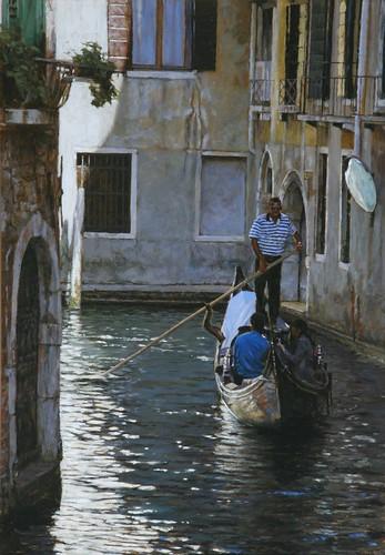 "Venice oil sketch 17"" x 11½"""