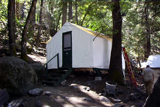 tent cabin at camp curry yosemite flickr photo sharing