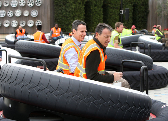 Tom Staggs & Bob Iger Luigi's Flying Tires