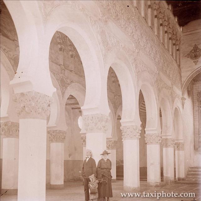 Sinagoga de Santa María la Blanca en los años 20. Fotografía de José Villar Martelo