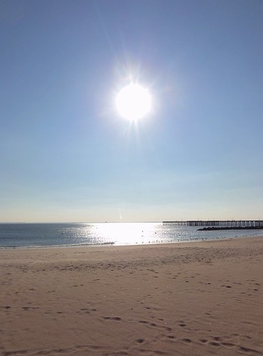 Winter Sun on Coney Island Beach