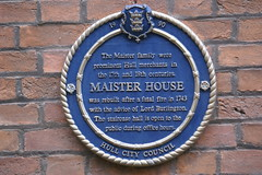 Photo of Maister House blue plaque