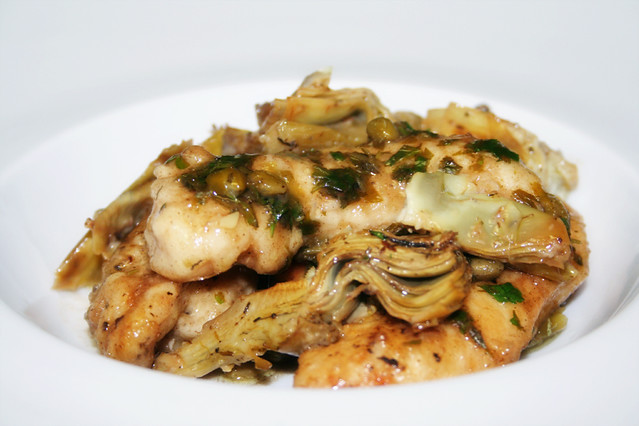 Chicken Piccata with Capers and Artichokes | Flickr - Photo Sharing!