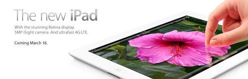 new iPad coming on March 16