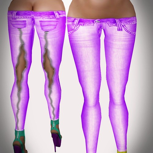 A&A Fashion Spring Jeans B violet