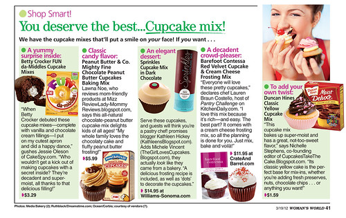 Cupcake mix feature
