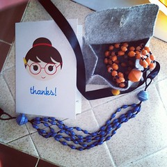Got a cute package of jewelry today from @raphaela325 that I won in their blogiversary giveaway!