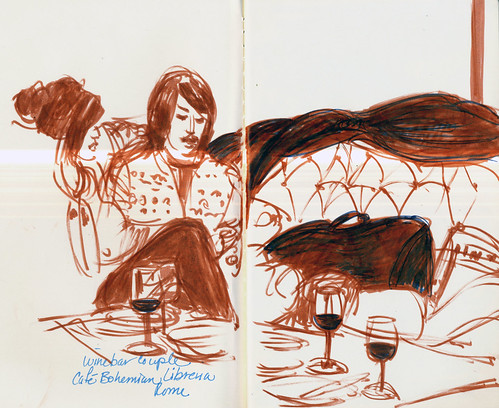Rome: wine bar couple