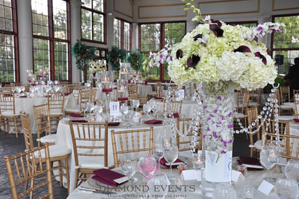 Grand Conservatory of Raspberry Plain set for a wedding reception