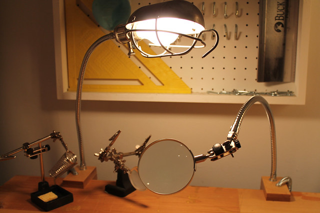 Clamp Lamp and Clamp Magnifying Glass