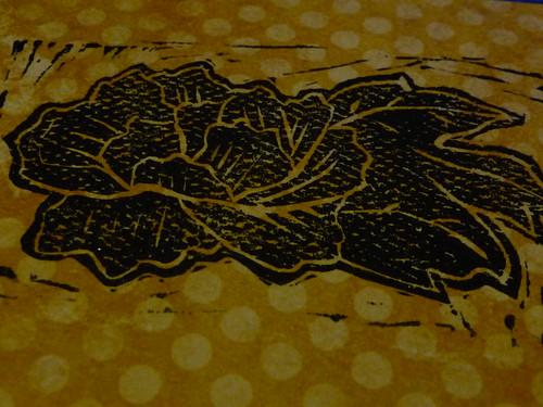 Flower Linocut Print
