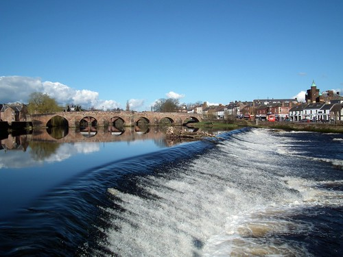 bridge river weir dumfries nith