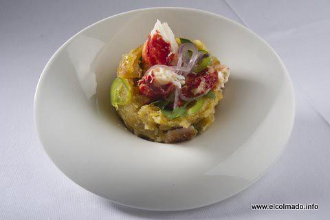mofongo con cangrejos y cilantro,. el colmado