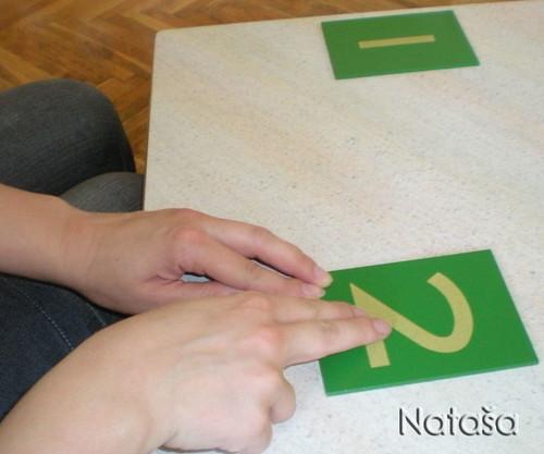Sandpaper Numeral Presentation (Photo from Leptir)