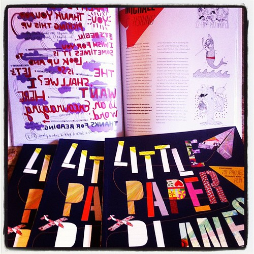 Nice just got the Little Paper Planes book @Llpstore!! There's my page in the book! by Michael C. Hsiung