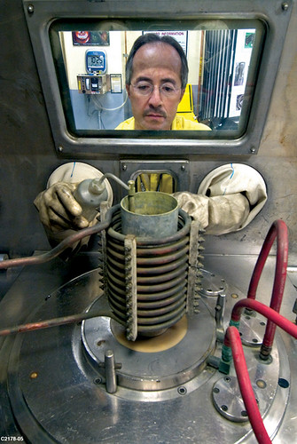 Plutonium pits are cast at Los Alamos National Laboratory