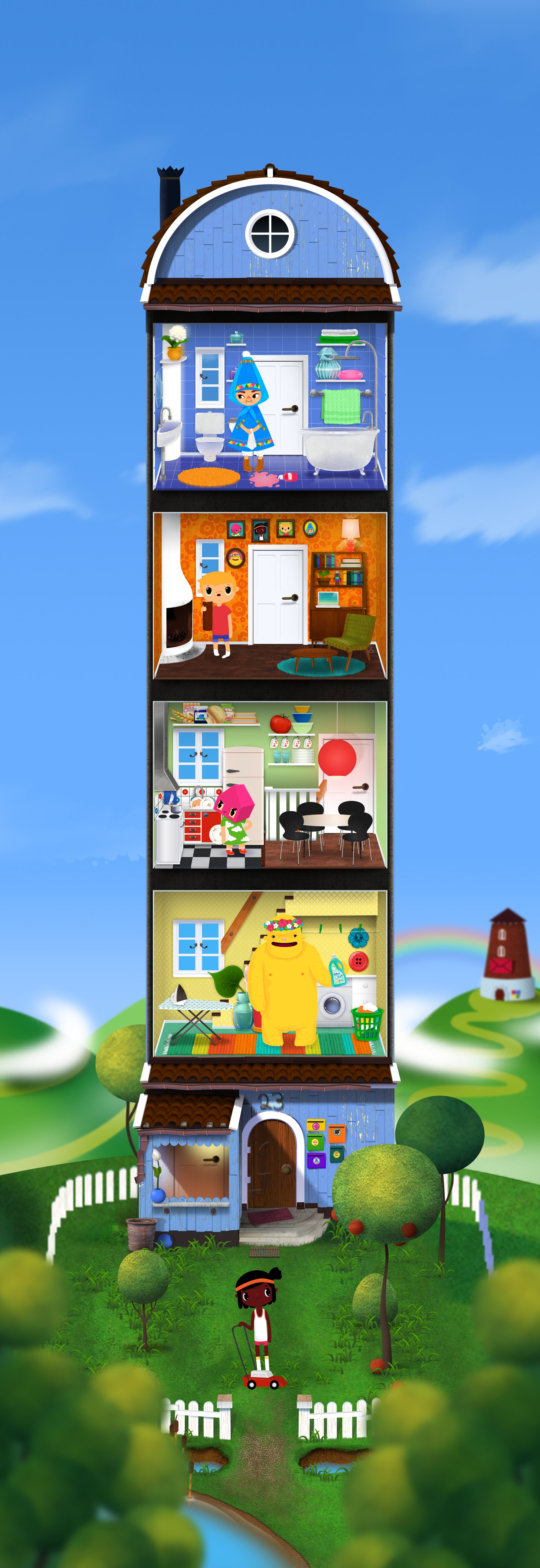 Toca house poster toca boca from the iphone ipad app for Home building apps for iphone