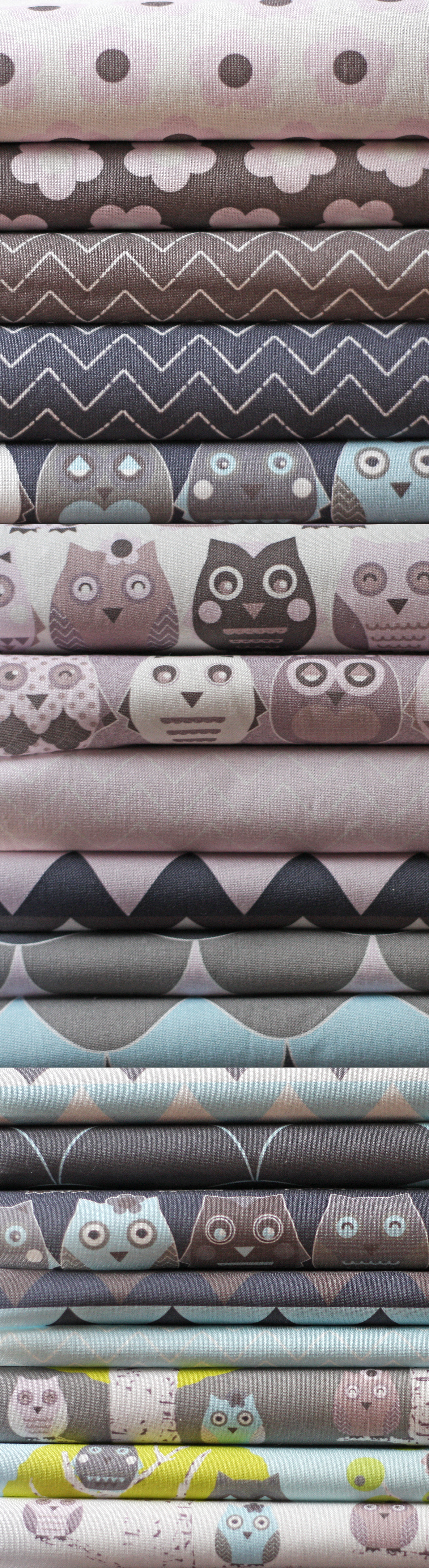 owls fabric pile