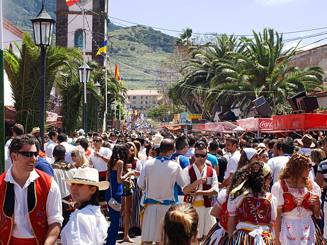 Crowd at Romeria San Marcos, Tegueste, Tenerife
