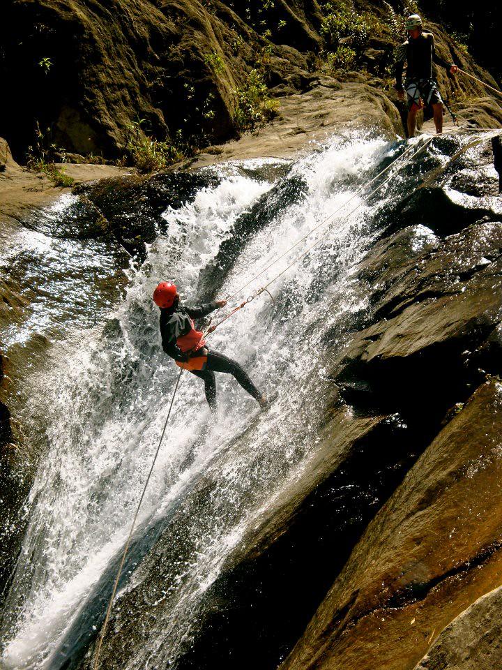 More Adventure! Canyoning in Baños, Ecuador