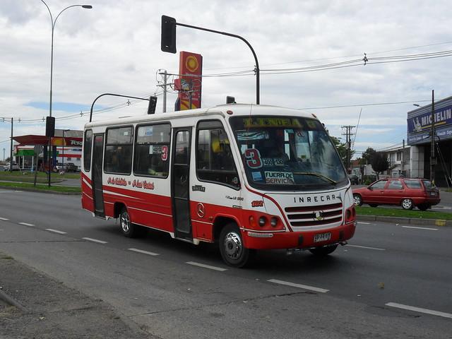 Inrecar Capricornio I - Mercedes-Benz LO 914 - Línea 3 Temuco