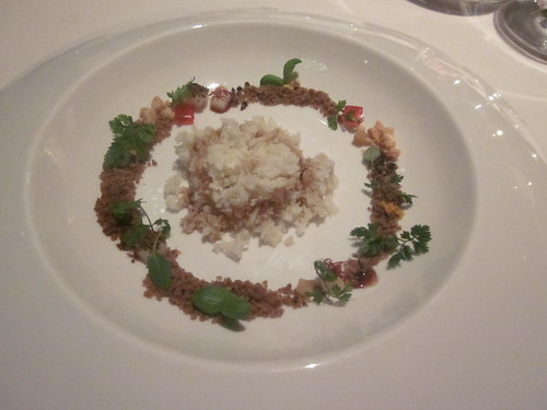 Next/El Bulli - Chicago - February 2012 - Cauliflower Cous-Cous with Solid Aromatic Herb Sauce