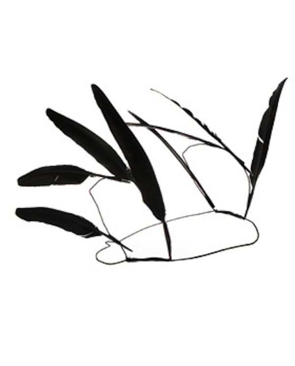 Ann Demeulemeester feather headdress at brownsfashioncom