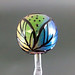 Single bead : Rainbow leaf