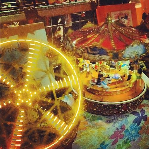 Miniature fun fair.