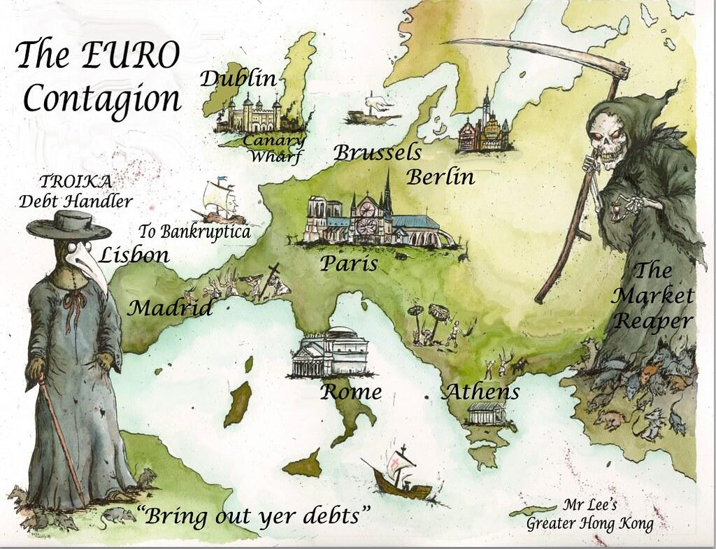 EURO CONTAGION MAP