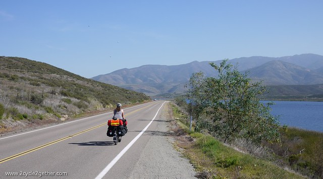 Sheila, Campo Road riding toward Tecate border