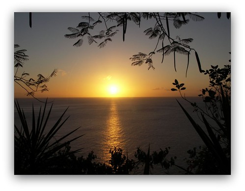 sunset seascape carribean stlucia westindies windwardislands