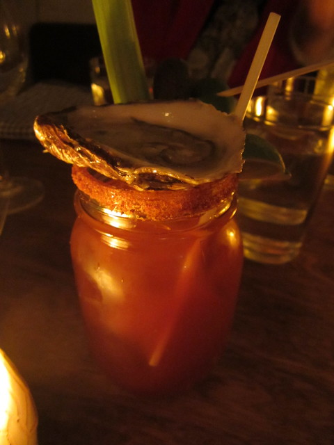 Bloody Ceasar with oyster