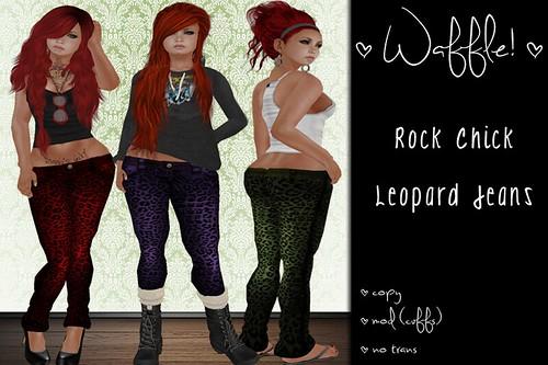 Waffle! Rock Chick Leopard Jeans by Kiki Paine <3