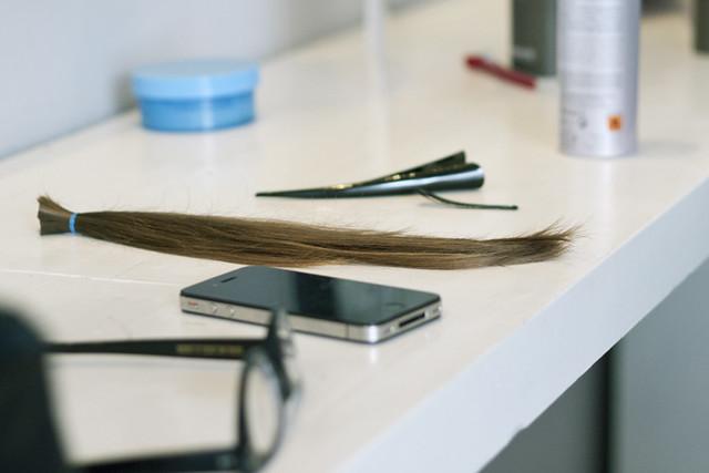 Gaby's haircut #1