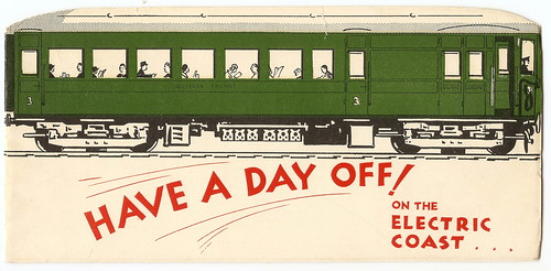 "Southern Railway - Have a day off on the Electric Coast!"" - advertising brochure, 1935 by mikeyashworth"