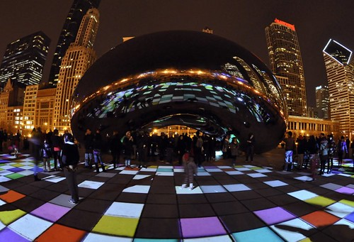Luminousfield art installation by Luftwerk at the Bean in Millennium Park  (Explored)