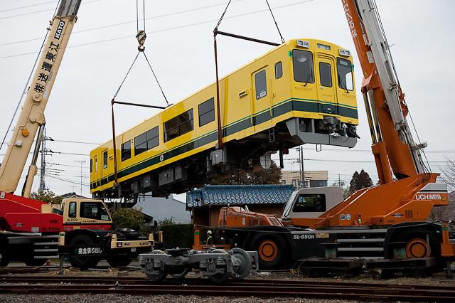 いすみ鉄道 いすみ300形 陸送・搬入