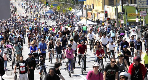 ciclavia, los angeles