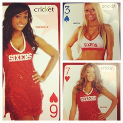 A sneak peek of tonight's giveaway @SixersDreamTeam playing cards courtesy of @CricketNation