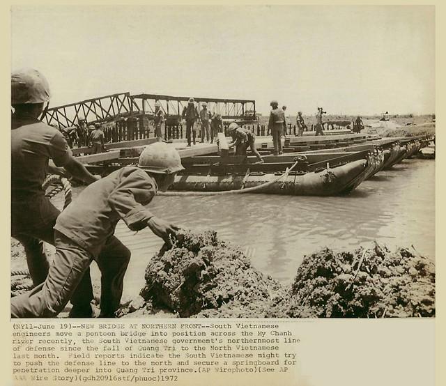 Quảng Trị 19/6/1972 -- CẦU MỚI TẠI MẶT TRẬN PHÍA BẮC