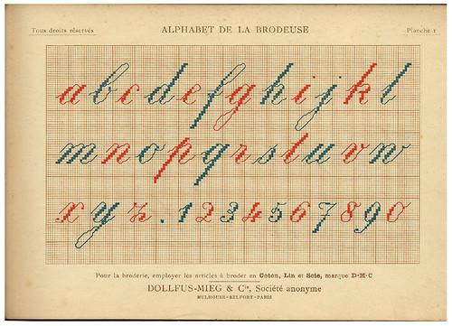 003-Alphabet de la Brodeuse1932- Thérèse de Dillmont