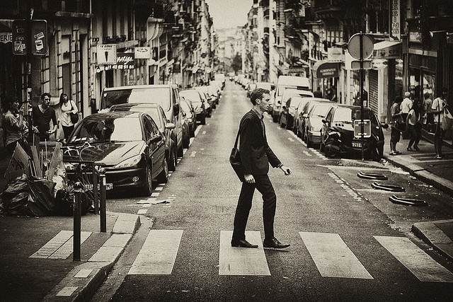 Creative black and white street photography by Borko Todorovski