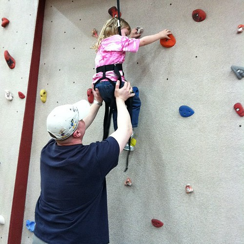 63:365 Climbing the rock wall (with a little help)