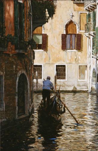 "Venice oil sketch 16¾"" x 11"""