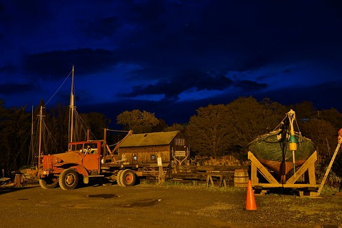 Essex MA At Dawn- Essex Shipbuilding Museum and Burnham Boatyard 4:46AM 4/24/12 by captjoe06