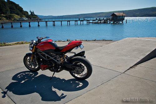 Happy solo ride - Tomales Bay by Speedy Chung